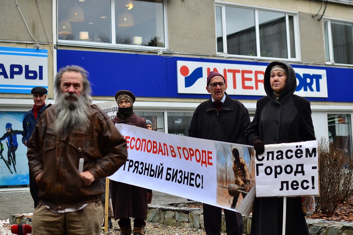 Защитить лес от экологов: в Академгородке прошел митинг против новых жилых домов