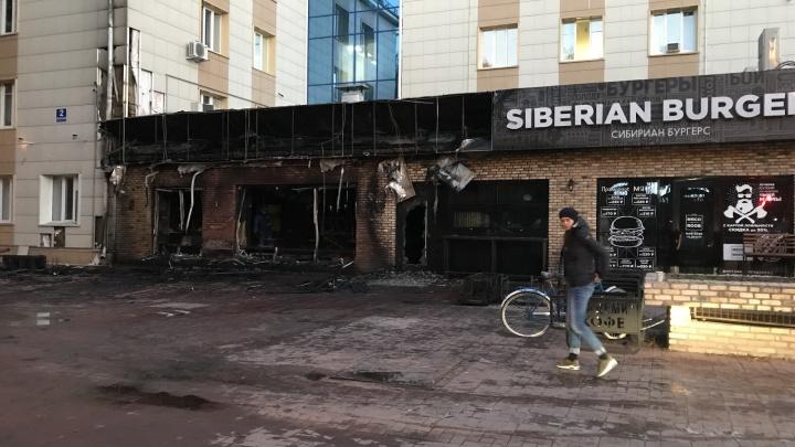 Ночью в Академгородке сгорела кофейня