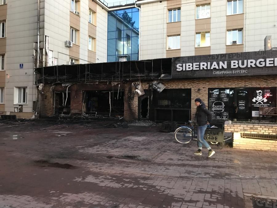 Кофейня сгорела вновосибирском Академгородке