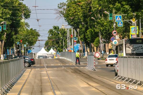 Дороги в центре перекрывают из-за проведения фан-феста на площади Куйбышева