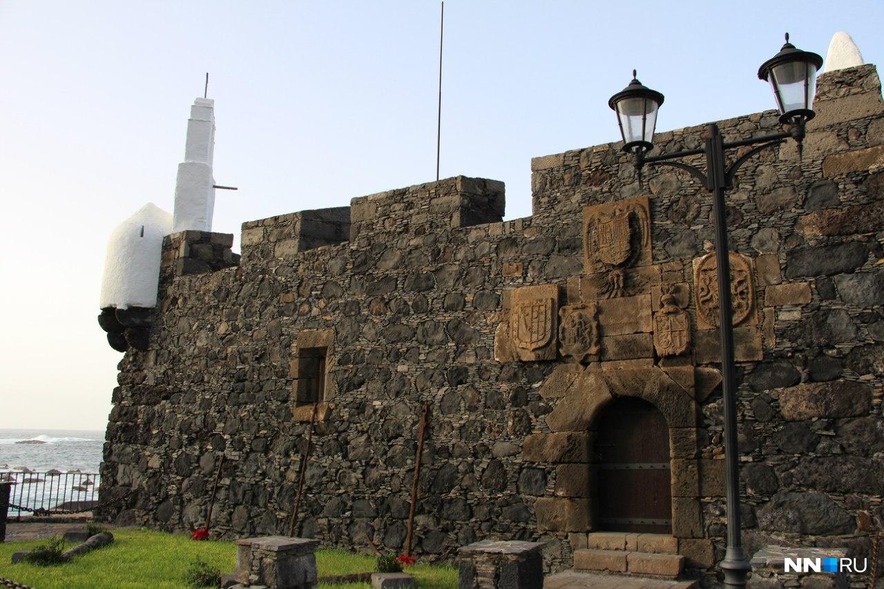 Крепость из лавы