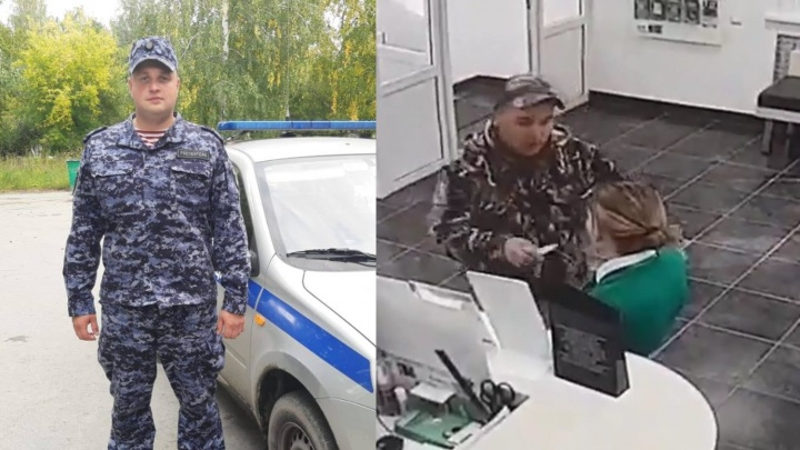 В Асбесте росгвардеец выследил грабителя с ножом, переодевшись в гражданскую одежду: видео