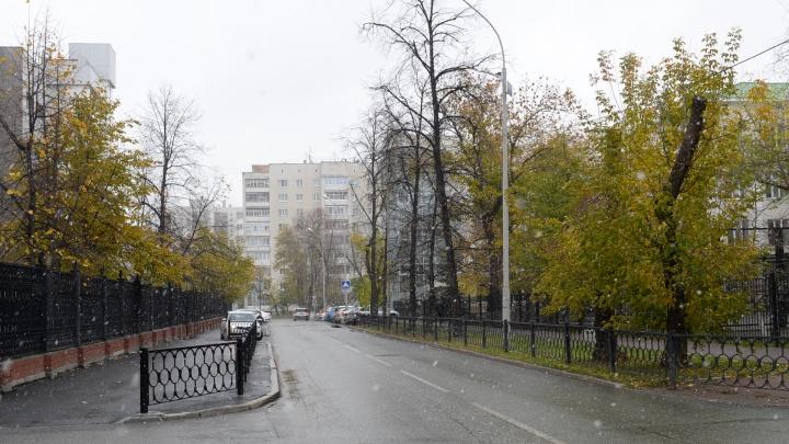 Циклон с севера принёс на Урал холод, ветер и новую порцию мокрого снега