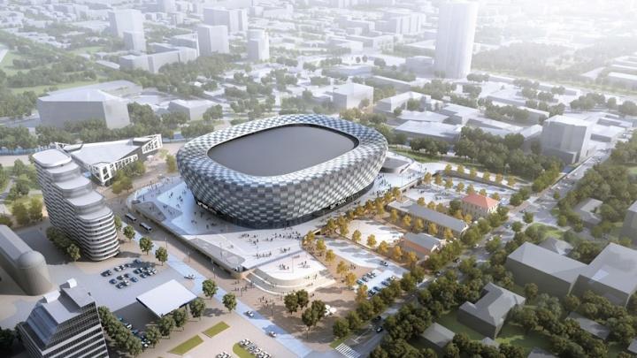 В Екатеринбурге назначили публичные слушания по проекту ледовой арены на месте телебашни