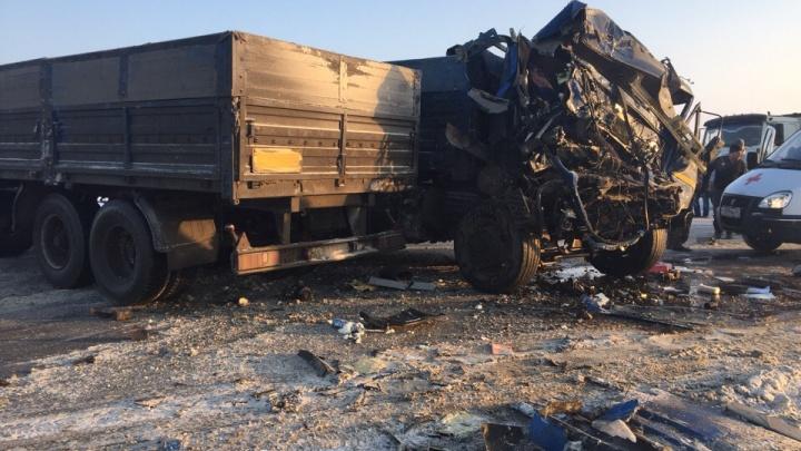На трассе «Иртыш» в Варгашинском районе столкнулись три грузовых машины: есть пострадавшие