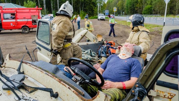 Разрезанный УАЗ и 22 пострадавших: как в Прикамье прошли учения оперативных служб в массовом ДТП