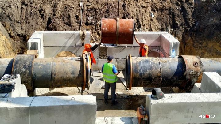В Кургане представили проект территории для строительства второй нитки водовода от Арбинки