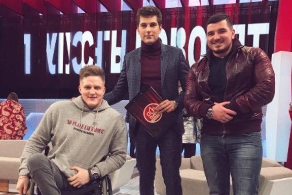 На съемках Сергей познакомился и с популярным ведущим Дмитрием Борисовым
