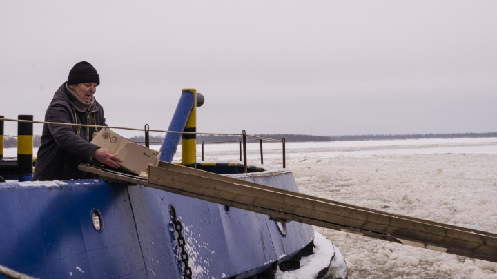 Через льдины до Кегострова: как жители островных территорий Архангельска добираются из центра домой