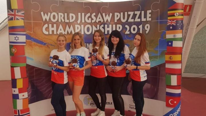 Сибирячки стали чемпионками мира по скоростному сбору пазлов в Испании
