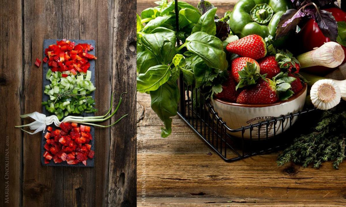 Овощи мелко нарезать и оставить мариноваться