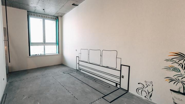 Квартира с граффити продается в доме на набережной Новосибирска