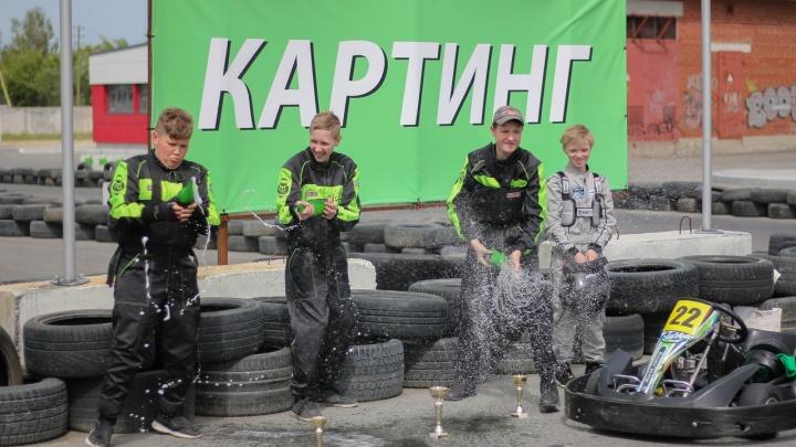 Дети обливались детским шампанским: в Екатеринбурге гонщики сразились на турнире по картингу