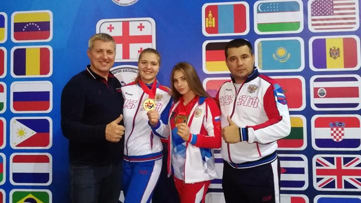 Две девушки из Новосибирска выиграли первенство мира по самбо в Тбилиси