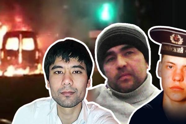 Предполагается, чтоАлишер Каимов,Махмуд Джумаев и Альмир Абитов (слева направо) погибли при взрыве «Газели» 1 января. Но официально об их судьбе до сих пор ничего не сообщили<br>