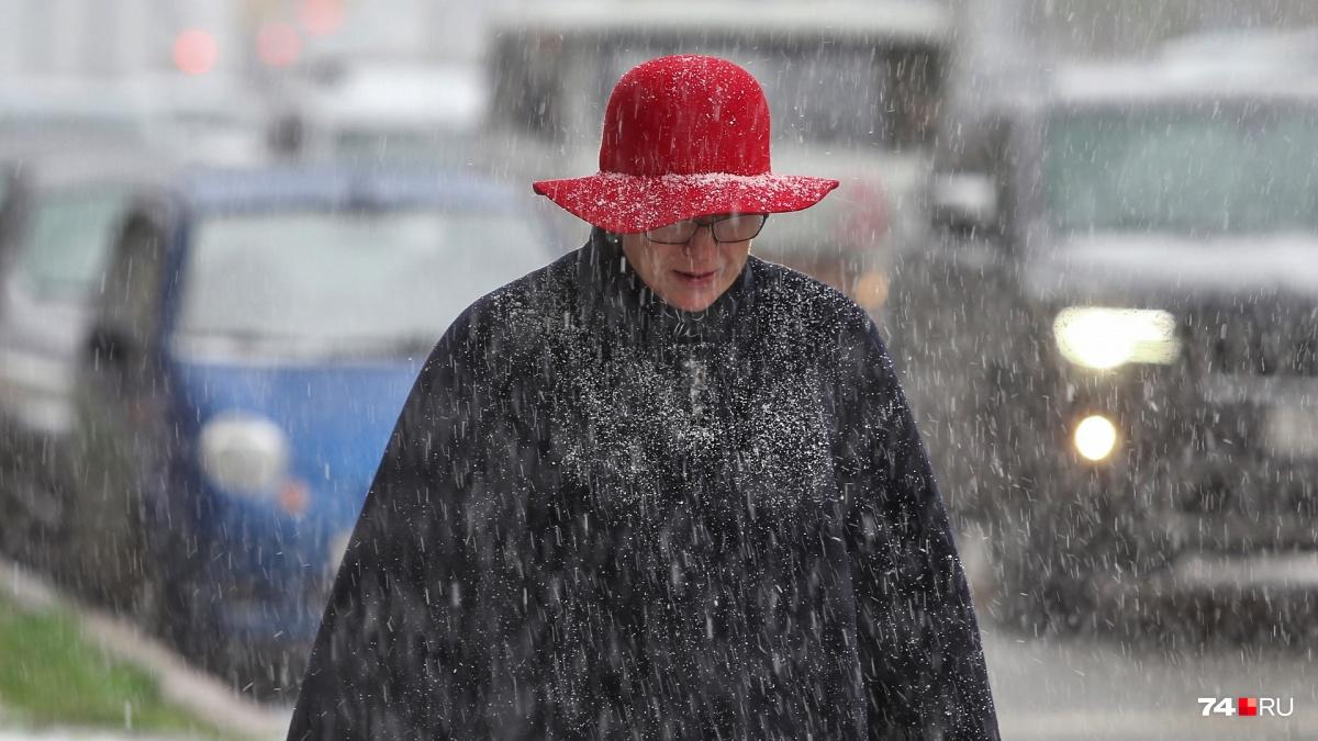 В Челябинской области снег в конце мая— редкость