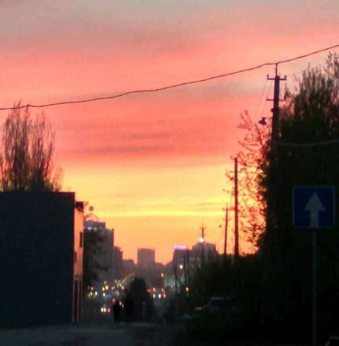 Закат над Новосибирском