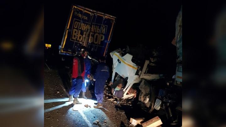 «Не заметил фуру»: в Самарской области при столкновении двух грузовиков скончался мужчина