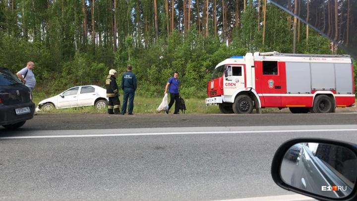 ЕКАД встала в десятикилометровой пробке из-за жесткой аварии в районе Лиственной