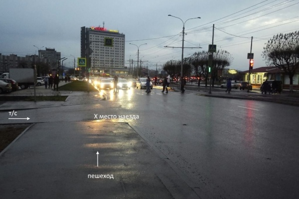 Водитель уехал в сторону Коммунального моста