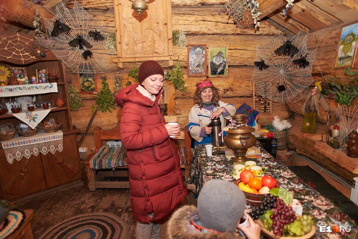Чай с Бабой-ягой и фотосессия на память — 100 рублей
