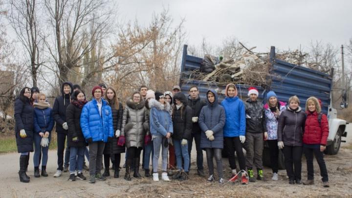 Глава района Волгограда помог волгоградцам убрать мусор после клича в соцсети
