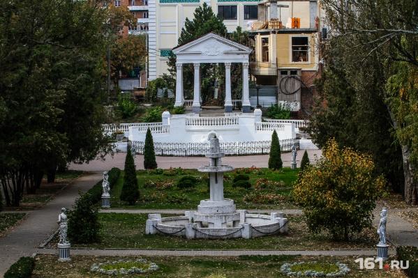 Сейчас в парке работает только один фонтан