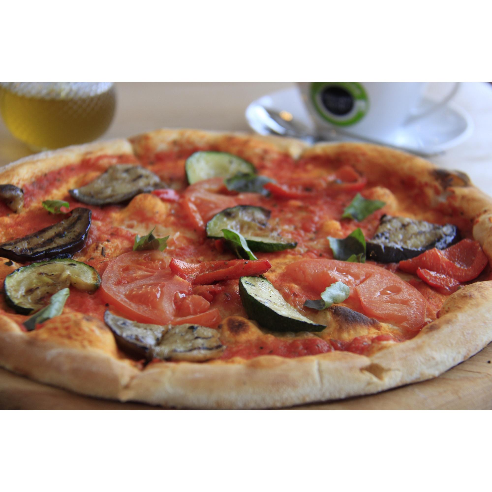 Постная пицца с овощами за 290 рублей