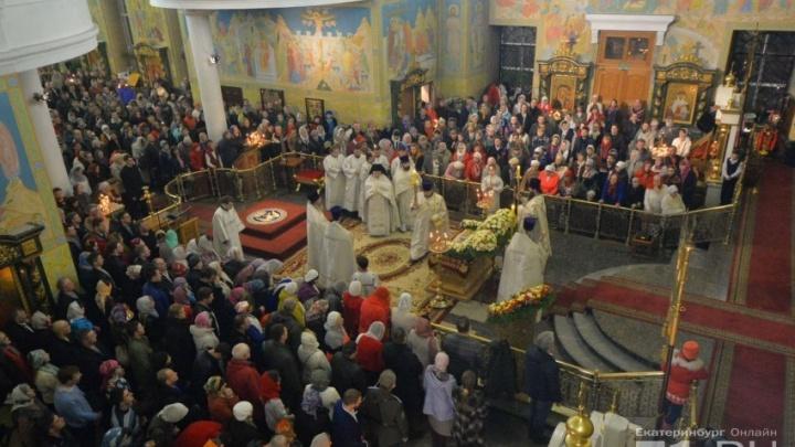 На богослужение в храмы Свердловской области пришли 80 тысяч верующих