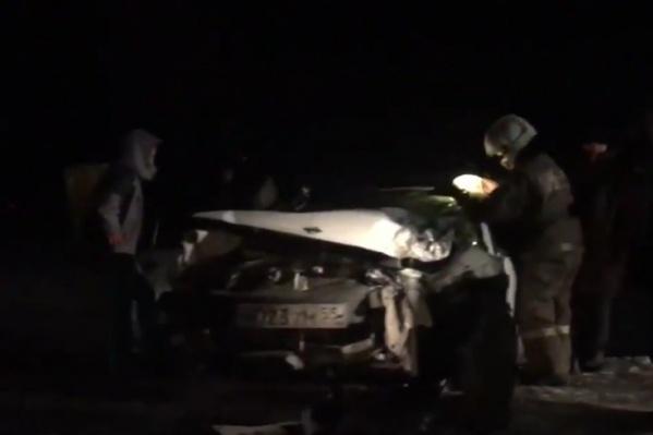 В аварии пострадали дети