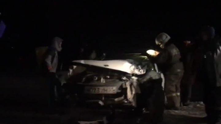 Под Омском произошла массовая авария с пятью пострадавшими