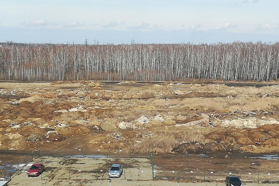 Неизвестные свозят мусор со строек на участок рядом с лесом, возле деревни Моховички