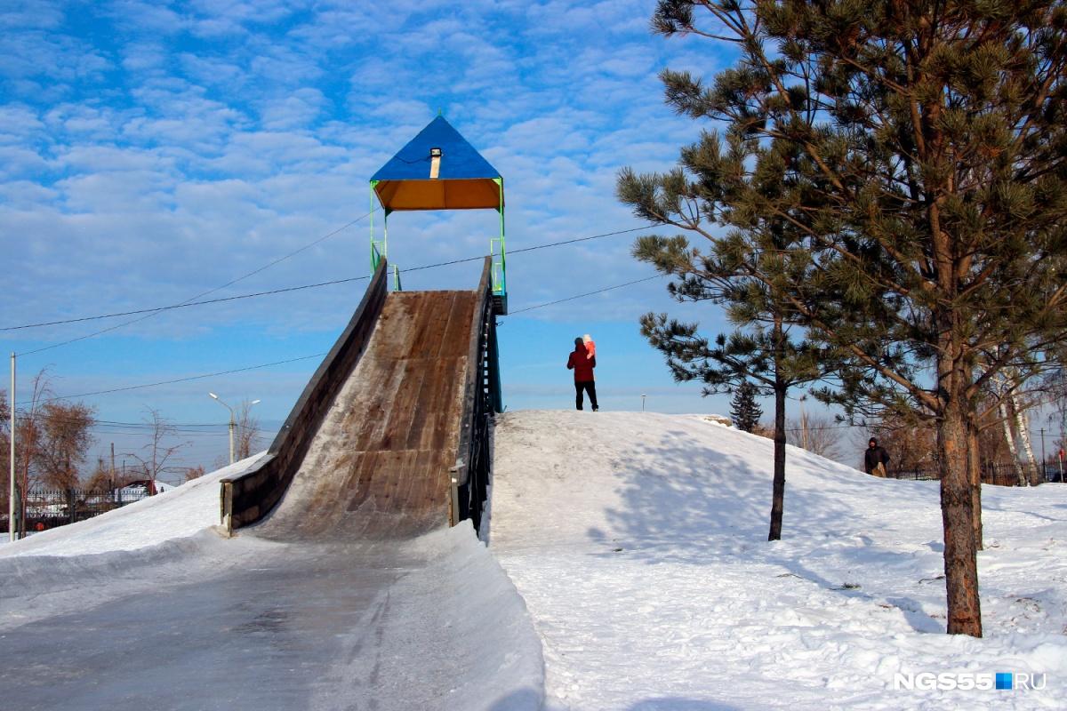 Впарке «Сибирь» открылась самая высокая вОмске ледяная горка