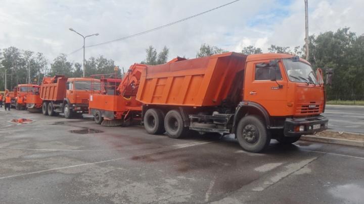 На Русско-Полянском тракте перевернулся КАМАЗ со щебнем