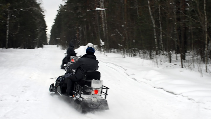 Спасатели на снегоходах вывезли из леса 8 детей