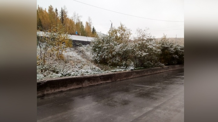 На юге и севере края выпал первый снег