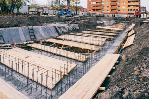 Так выглядело строительство дома в октябре