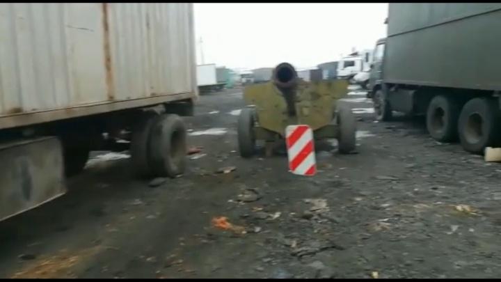 Напугавшая дончан пушка с Овощного рынка отправится в Дагестан