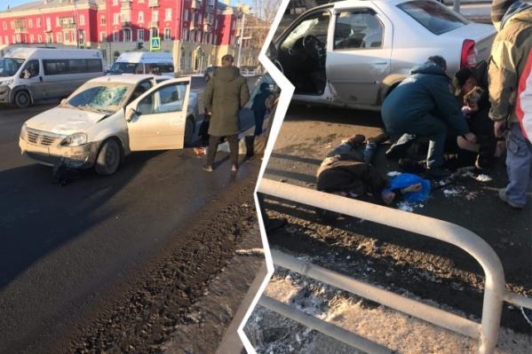 ДТП произошло на пешеходном переходе на улице Машиностроителей