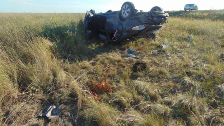 В Башкирии «Хендай-Солярис» слетел в кювет, двое в больнице