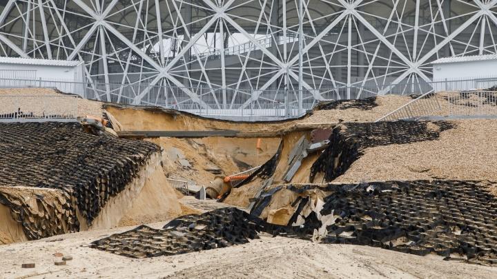 Генподрядчик начал восстанавливать склоны и чинить «Волгоград Арену» после большого потопа