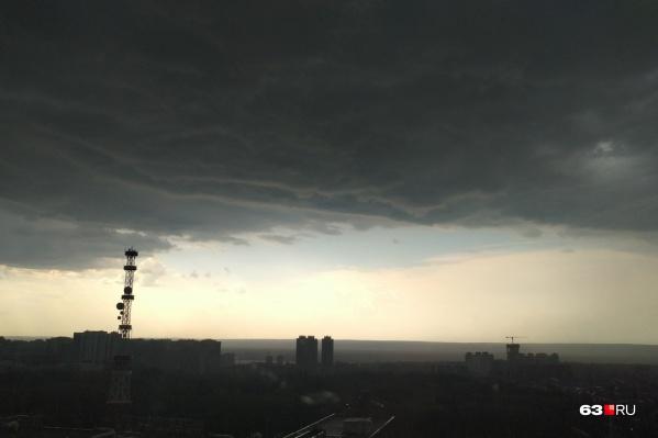 В ближайшие два дня в Самаре вновь прогнозируются грозы
