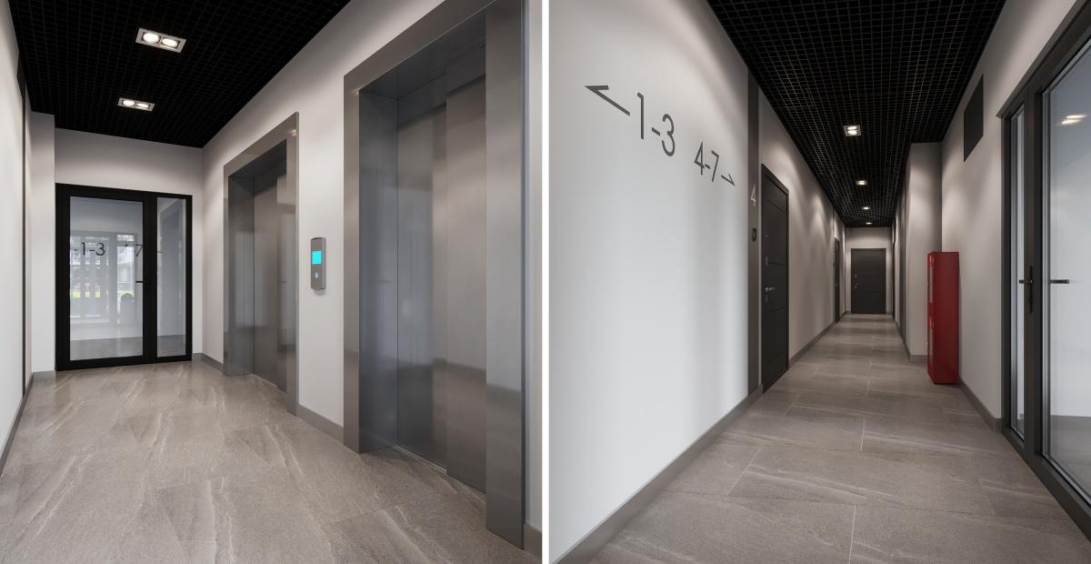 Холлы и коридоры будут оформлены в едином стиле