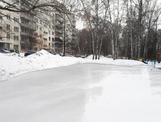 Жители Академгородка добились строительства нового катка возле гимназии № 3