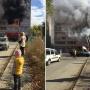Собрались зеваки: в многоэтажном доме напротив ЧелГУ вспыхнул крупный пожар