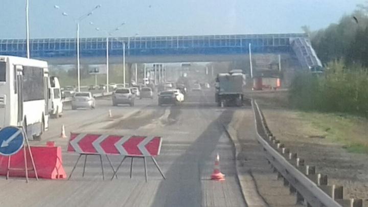 В Уфе перекрыли часть трассы «Уфа — аэропорт»