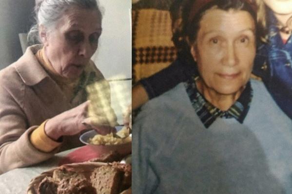 Слева — свежая фотография, так бабушка выглядит сейчас