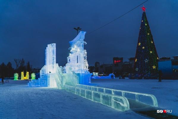 Пермский ледовый городок в этом году посвящен символам Востока