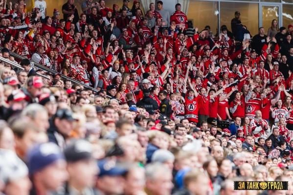 На матч в Челябинск приехало больше 200 болельщиков