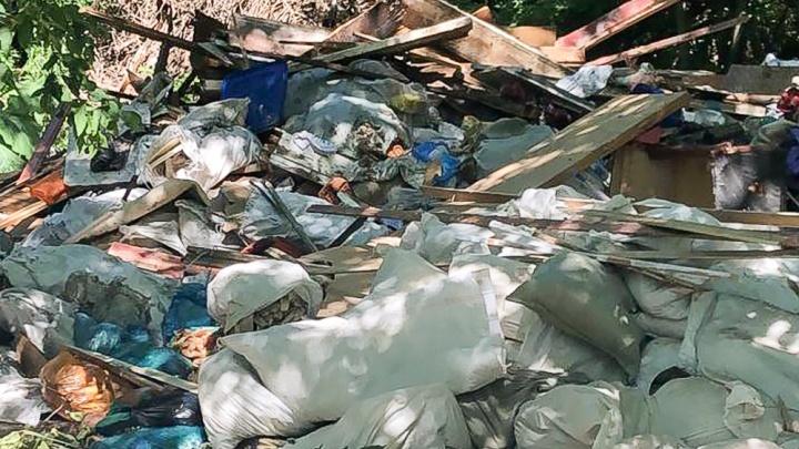 В парке на Левобережной поймали ростовчанина с десятью мешками строительного мусора